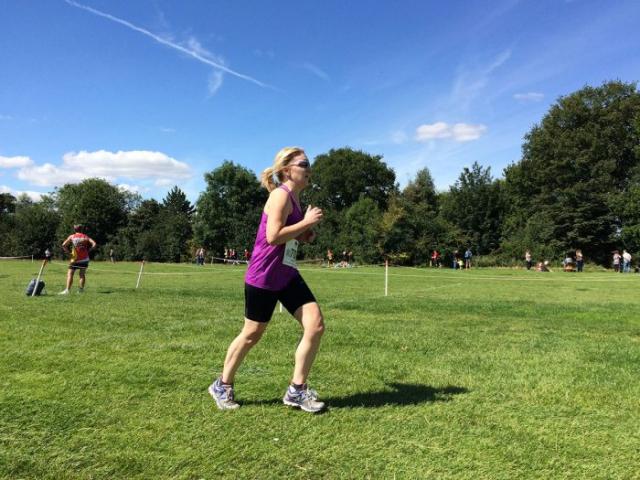 Jeanette Barnes completes the Newark Half Marathon