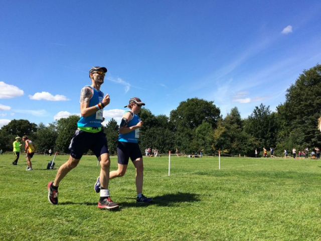 Caitlin and Tim synchronised finish