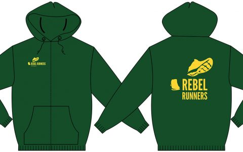 Rebel Runners zip-up hoodie