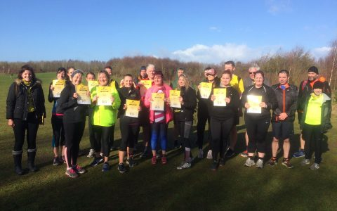 Graduation parkrun at Rushcliffe March 2019